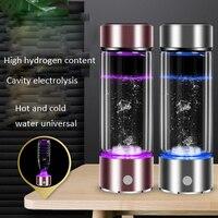 SPE/PEM Hydrogen Water Generator Alkaline Maker Rechargeable Portable Water Ionizer Bottle No Residual Chlorine Ozone