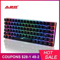AJAZZ AK33 Mechanical Keyboard RGB Gaming Keyboards 82 Keys Blue/Black Switches Anti Ghosting for PTUG LOL DOTA 2 csgo