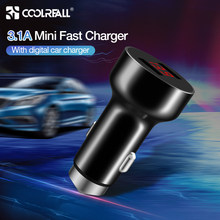Coolreall 5 V 3.1A デジタル LED 表示デュアル USB 車の充電器は、 iphone 、サムスン旅行ア(China)