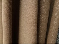Stretch Khaki Stripes Gold Thread Wool Woolen Cloth Suit Jacket Spring Fashion Tweed Stretch Fabrics Knitting