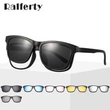 Ralferty Magnet Sunglasses Men Eyeglass Frames With Clip On Sunglass