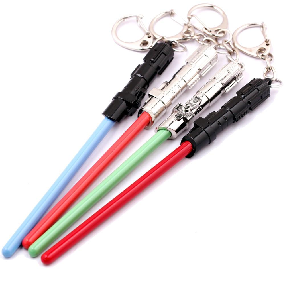 Chaveiro Звездные войны световой меч брелок игрушки металлические брелоки подарок брелок сумка автомобиль кулон фигурку игрушки вечерние пост...