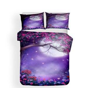 Image 2 - 寝具セット 3D プリント布団カバーベッド大人のためのセット海ファンタジー妖精の森ホームテキスタイル寝具枕 # MJSL02