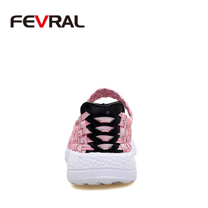 Image 3 - FEVRAL Brand Woman Casual Shoes Summer Breathable Handmade Woman Woven Shoes Fashion Comfortable LightWeight Wovening Size 35~41