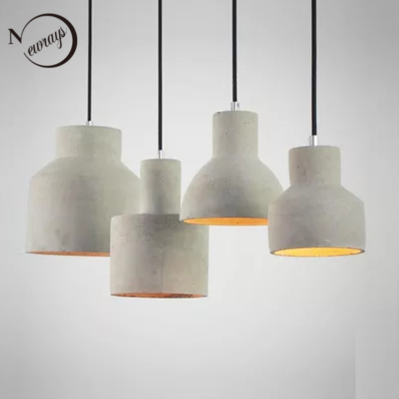 Vintage art deco cement Engraved hanging pendant lamp 220v E27 LED light with switch lighting fixture for restaurant living room vintage colorful minimalist cement hanging pendant lamp 220v e27 led light with switch lighting fixture for hallway bar bedroom