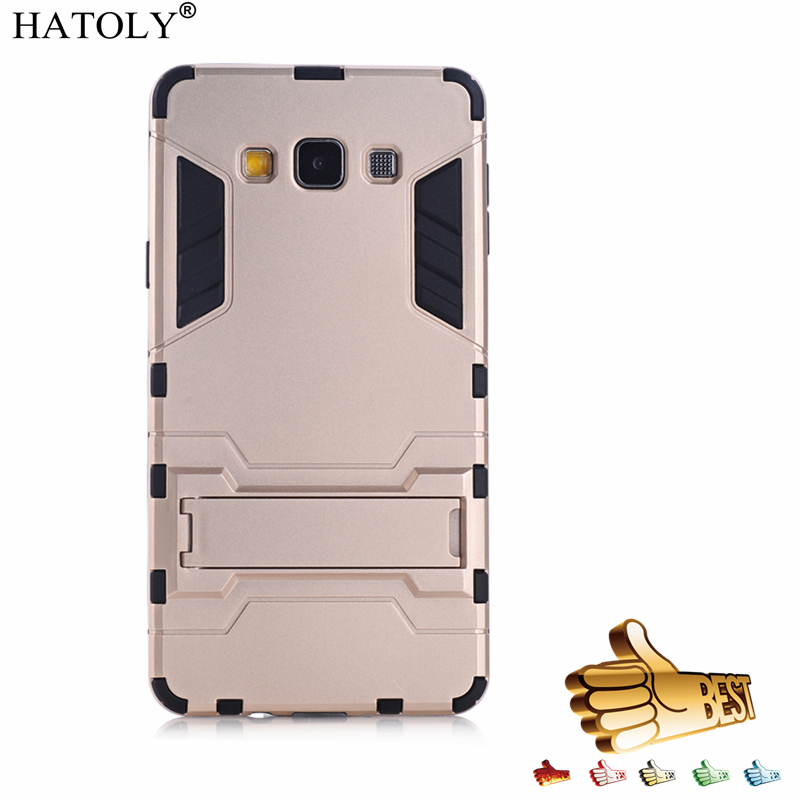 For Armor <font><b>Case</b></font> Samsung Galaxy A7 2015 <font><b>Case</b></font> Galaxy A7 2015 Robot Silicone Rubber Hard Back <font><b>Case</b></font> For Samsung A7 2015 <font><b>A700</b></font> HATOLY image