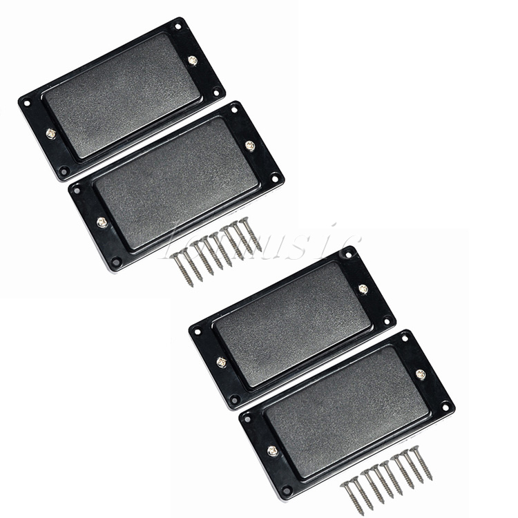 2 Sets Black Sealed Humbucker Pickup Set For Electric Guitar Replacement Parts electric guitar pickups humbucker double coil pickup guitar parts accessories sealed chrome