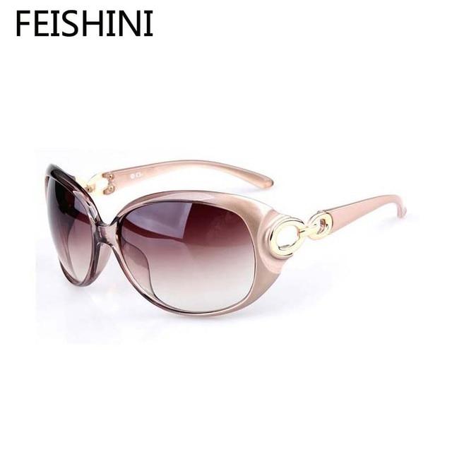 FEISHINI TAC HD Lens oculos de sol feminino Brand Designer TOP UV400 Protection glare Sunglasses Women Polarized  Luxury 2017