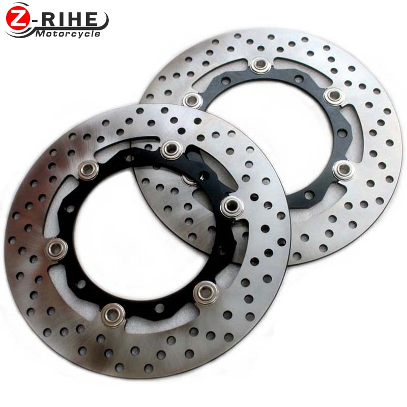 2PCS Front Floating Brake Disc Rotor motorcycle parts Aluminum  Brake Rotors for YAMAHA TMAX530 XP530 2012 2013 2014 12 13 14 mfs motor motorcycle part front rear brake discs rotor for yamaha yzf r6 2003 2004 2005 yzfr6 03 04 05 gold