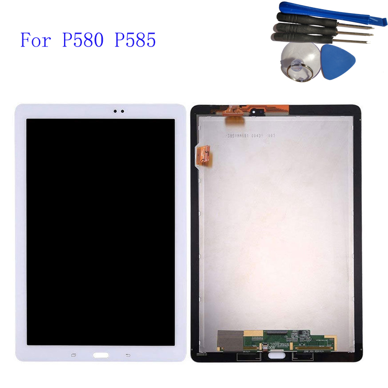 New 10.1 For Samsung Galaxy Tab A 10.1 2016 P580 P585 Touch Screen Digitizer LCD display Assembly SM-P580 display Parts Tools цена