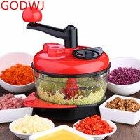 GODWJ Multifunctional Vegetable Chopper Manual Meat Grinder Garlic Crusher Shredder Vegetable Cutter Slicer Kitchen Tools