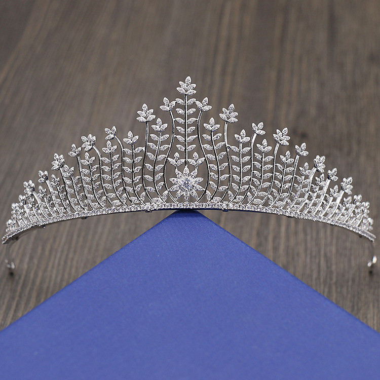 Full Zircon Tiara Bride Crown Diadem Mariage Wedding Hair Accessories Bride Jewelry Bijoux Cheveux Tocados Para Novia WIGO0957