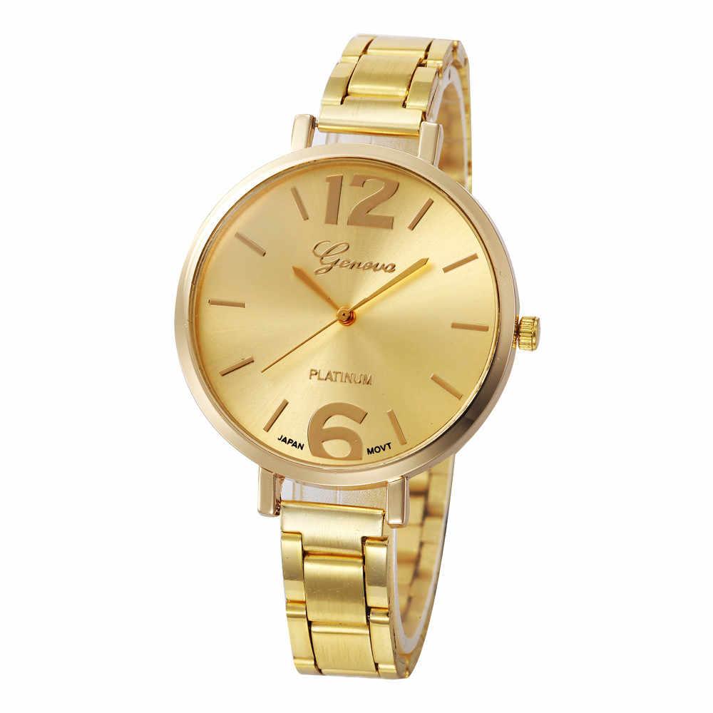 Gül Altın Lüks Cenevre Saatler Kadın Erkek spor saat Relogio Masculino Moda Bayan Iş Saati Bayanlar Kadın İzle reloj