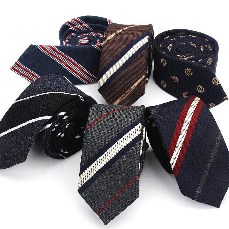Fashion Tie Classic Men's Stripe Necktie Casual Cotton Suits Bowknots Neck Ties Male Business Skinny Slim Ties Colourful Cravat