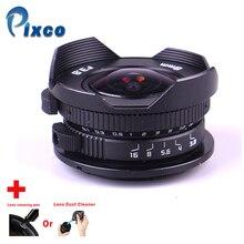 Камера 8 мм F3.8 рыбий глаз подходит для микро камеры четыре третьих + ручка для очистки объектива или пылеочиститель объектива, для Panasonic