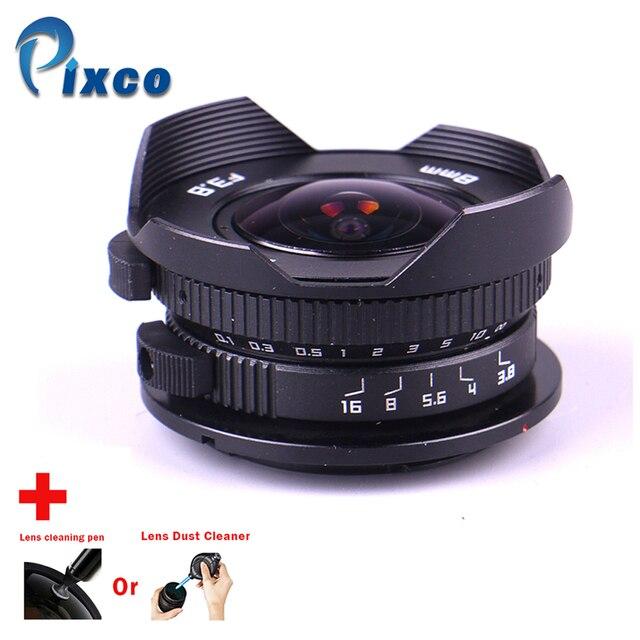 カメラ 8 ミリメートル F3.8 魚眼スーツマイクロフォーサーズ用マウントカメラ + レンズクリーニングペンまたはレンズダストクリーナー、パナソニック