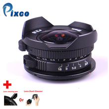 Camera 8mm F3.8 Fish eye suit For Micro Four Thirds Mount Camera + Lens cleaning pen or Lens Dust Cleaner, for Panasonic