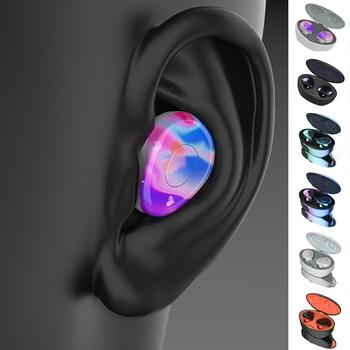 Wireless Binaural Bluetooth Headset Stereo Hifi Earphones In-Ear Noise Reduction Earbuds Mini Sport Headsets with Charging Box