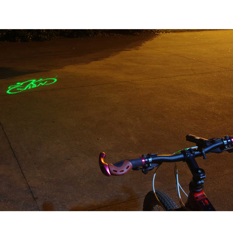 Cycling Bicycle Light Laser Projection Light Warning Light Bicycle Headlight DA