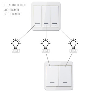 Image 2 - KTNNKG Light Switch RF 433Hz Wireless Remote Control Switch 90 260V Lamp Light Wireless Wall Remote Switch Receiver Sold separat