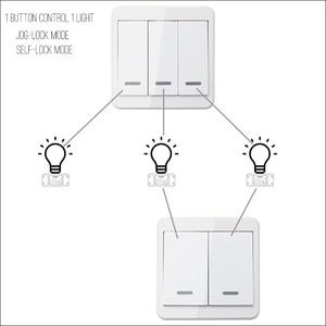 Image 2 - KTNNKG interruptor de luz RF 433Hz interruptor de Control remoto inalámbrico 90 260V Luz de lámpara receptor de interruptor remoto inalámbrico de pared se vende separat