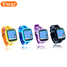 Vwar bebé inteligente reloj teléfono Q750 Q100 WIFI pantalla táctil SOS llamada Dispositivo de Localización GPS tracker para Niños Seguros PK Q90 niños reloj