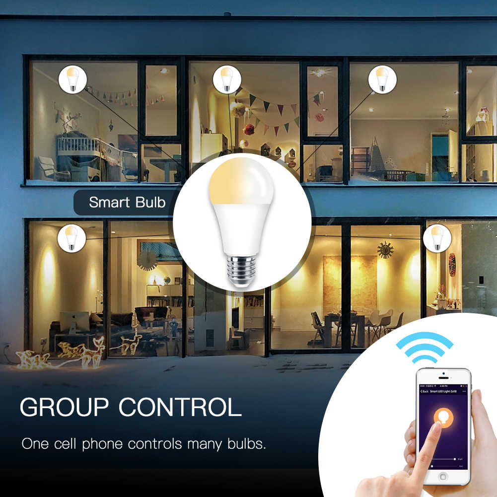 Wifi Smart Light Bulb Led Lamp 7w Soft White Daylight Smart Life Tuya Remote Control Works With Alexa Echo Google Home E27 E26