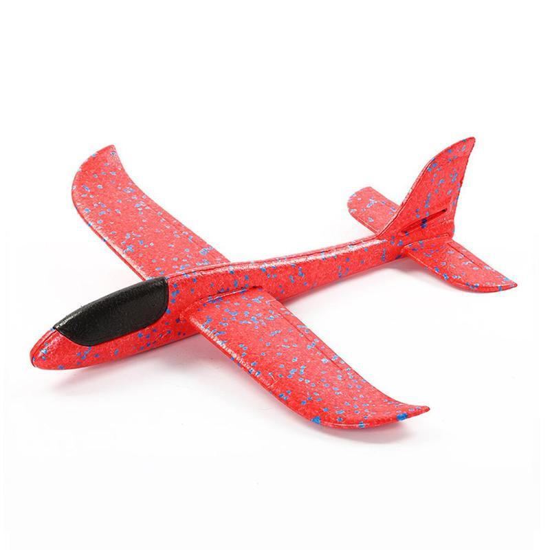 48CM main jeter mousse avion jouets en plein air lancement planeur avion enfants cadeau Jouet gratuit mouche avion jouets Puzzle modèle Jouet 1