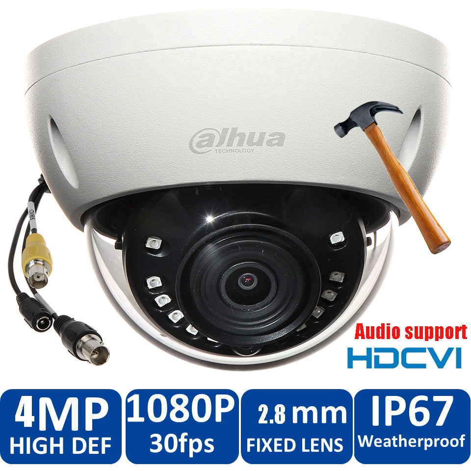 HD1080P Dahua HDCVI Camera 4MP DH-HAC-HDBW2401EP  HDCVI IR Dome audio Security Camera CCTV IR distance 50m HAC-HDBW2401EP original dahua 4mp hdcvi camera dh hac hdw1400emp hdcvi ir dome security camera cctv ir distance 50m hac hdw1400em cvi camera