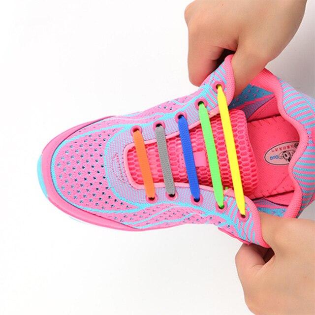 e3193697d65 Moda Zapatos nuevos Cordones elásticos cordones de silicona creativos  cordones de silicona zapatillas de deporte de