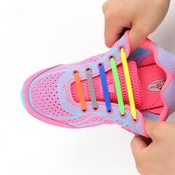 Mode Neue Schnürsenkel Elastische Schnürsenkel Kreative Silikon Schnürsenkel Silikon Schnürsenkel Turnschuhe Fit Gurt Unisex Sportlich Schnürsenkel