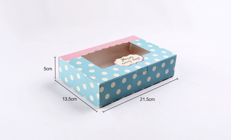 30pcs 21.5x13.5x5cm Polka Dot White paper gift box packaging Display box gift boxes for wedding/jewellery/candy/food storage
