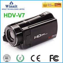Free Ship 24MP 5.0MP CMOS Professional Camera Video Camera HDV-V7 3.0″ 1080P HD Digital Camcorder DIS Face&Smile Detection