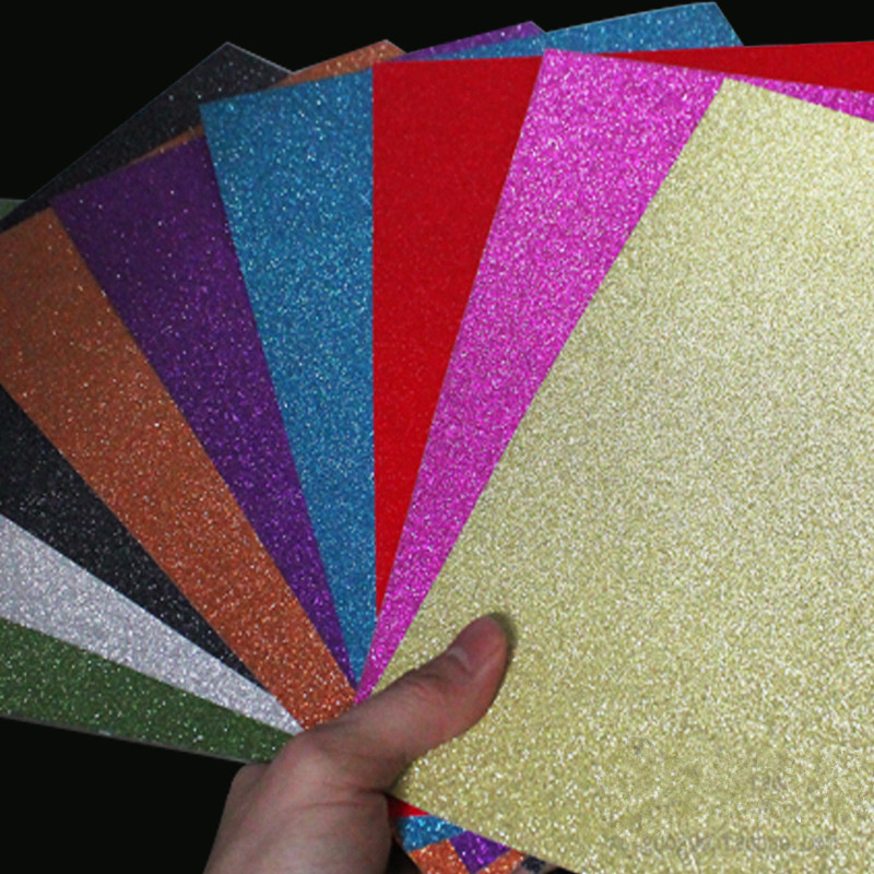 A4 20 30cm flash powder cardboard paper glitter crafts for Glitter crafts for kids