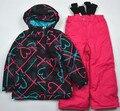 - 30 grueso niño traje de esquí establecer engrosamiento niño mujer hombre impermeable a prueba de frío ropa exterior a prueba de viento twinset