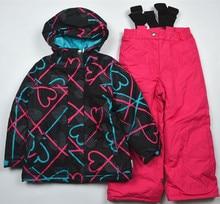 – 30 épaisse combinaison de ski pour enfants prévue épaississement mâle étanche enfant de sexe féminin froid à l'épreuve vêtements d'extérieur coupe – vent twinset