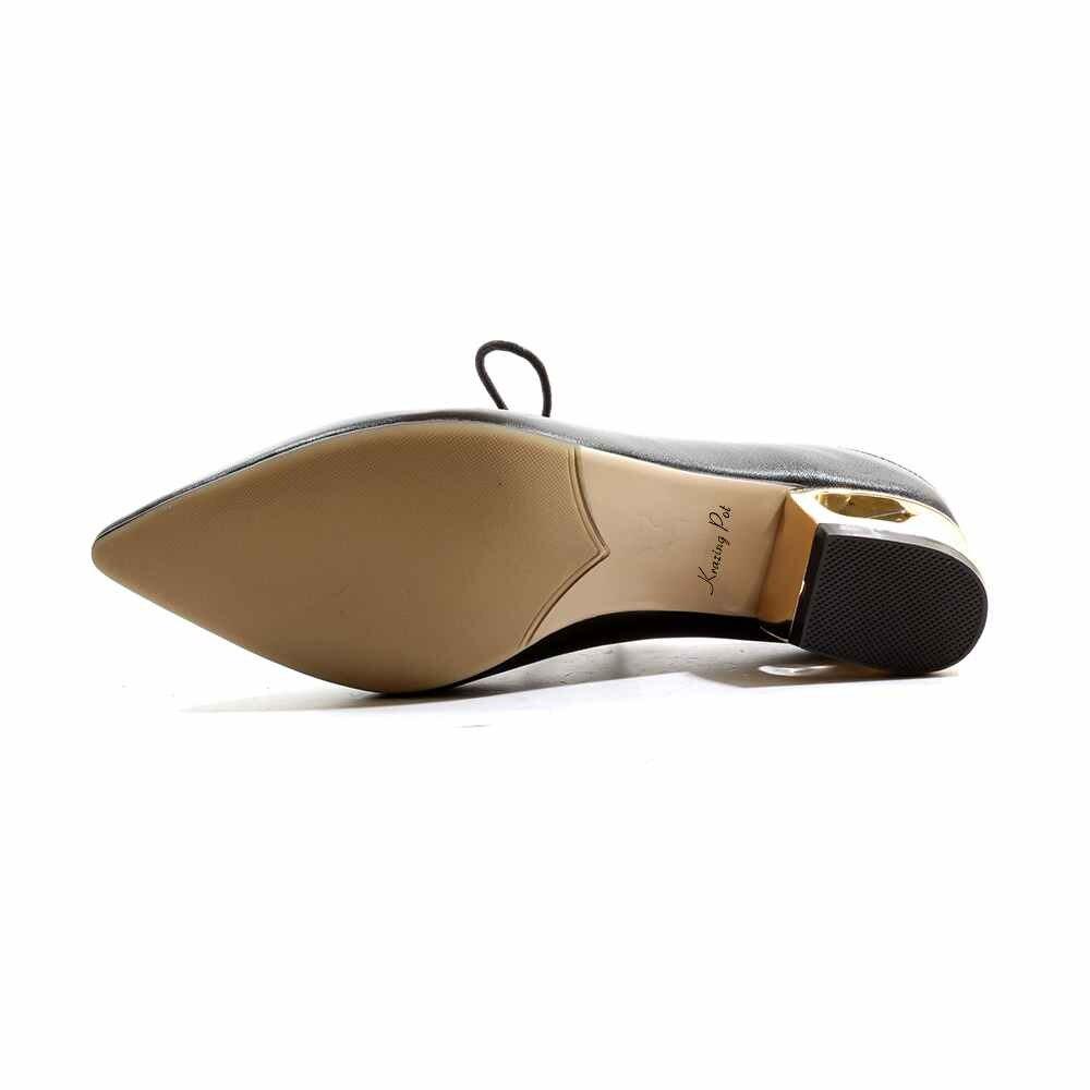 Cuir Krazing Pointu Métal Concise L28 D'été Chaussures Véritable De Offre Talons Spéciale Pot Pompes Robe Femmes Plage Marque En noir Bout Vacances beige Apricot Med 0AxrqAXwn