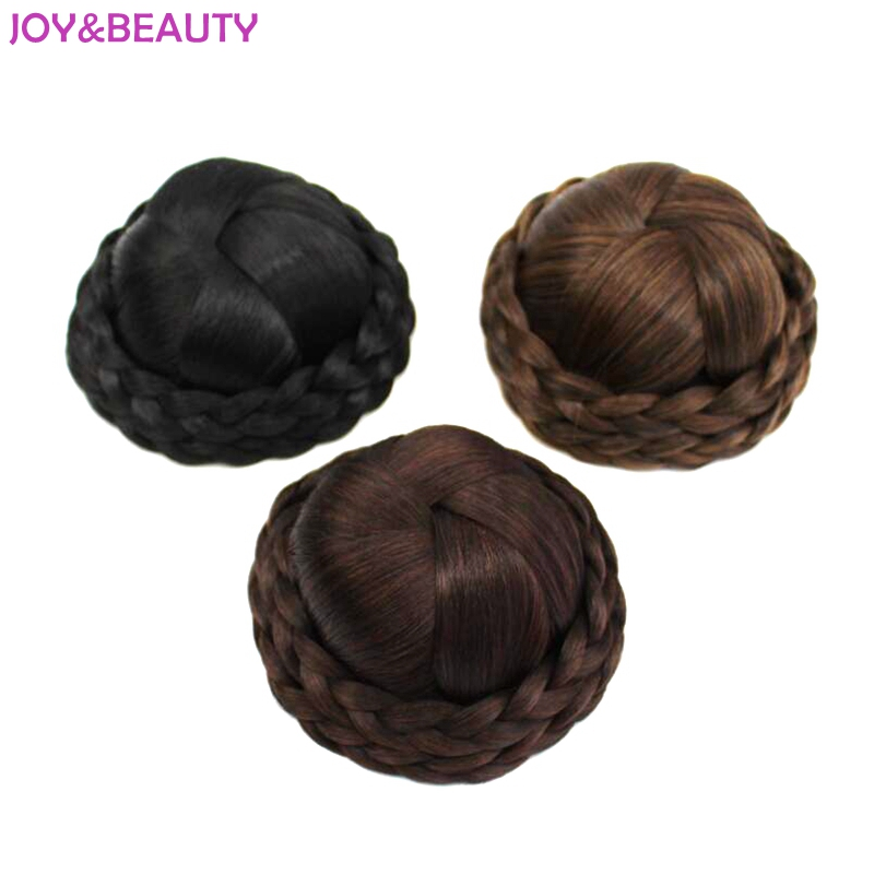 JOY&BEAUTY Hair Braided Clip In Hair Bun Chignon Hairpiece ...
