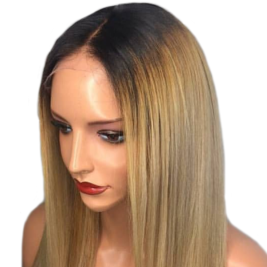 Shumeida 150% Ombre Искусственные парики предварительно plucekd бразильский ombre Синтетические волосы на кружеве парик прямо Человеческие волосы Искус...