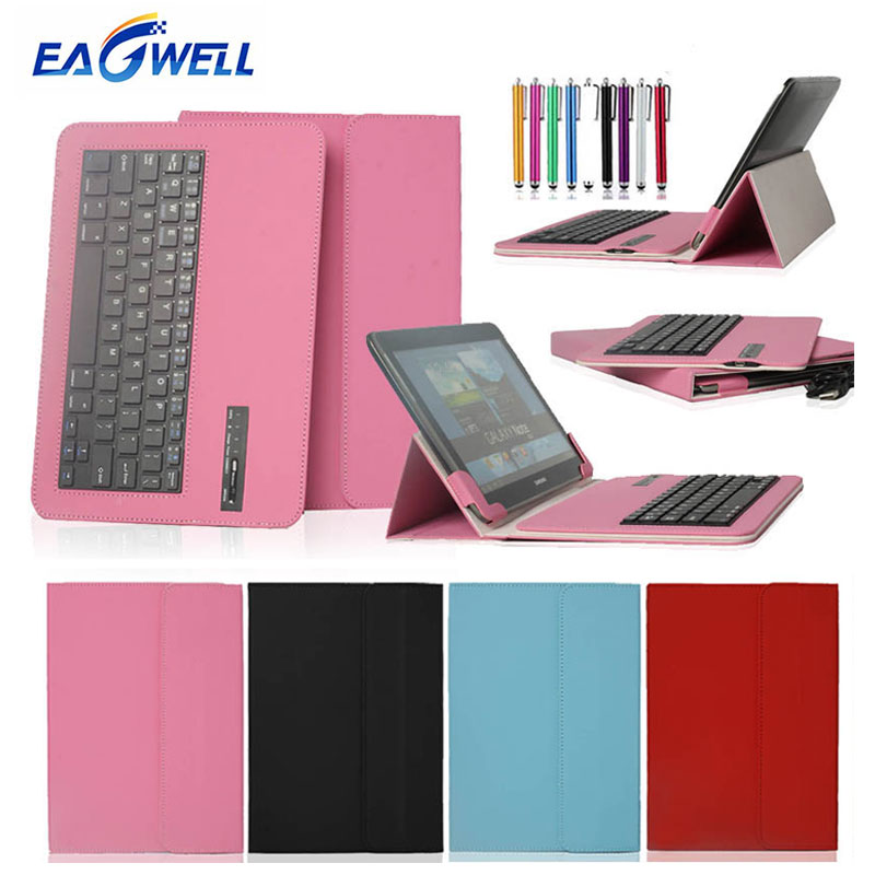 Universal Bluetooth Keyboard Leather Case Cover For 9.7 10 10.1 inch Tablet PC for iPad Samsung Lenovo Bluetooth Keyboard Case universal removable bluetooth keyboard folio case cover for lg g pad 10 1 v940 x 10 1 v930 x 10 1 ii uk750 2016 release tablet