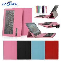 Universal Bluetooth Keyboard Leather Case Cover For 9.7 10 10.1 inch Tablet PC for iPad Samsung Lenovo Bluetooth Keyboard Case