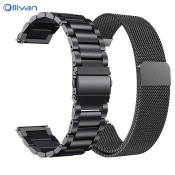622bbc08022a Original Milans correa de acero inoxidable para Garmin Vivoactive 3 banda  de reloj de la pulsera de la correa de Garmin Vivoactive3 HR Forerunner 645