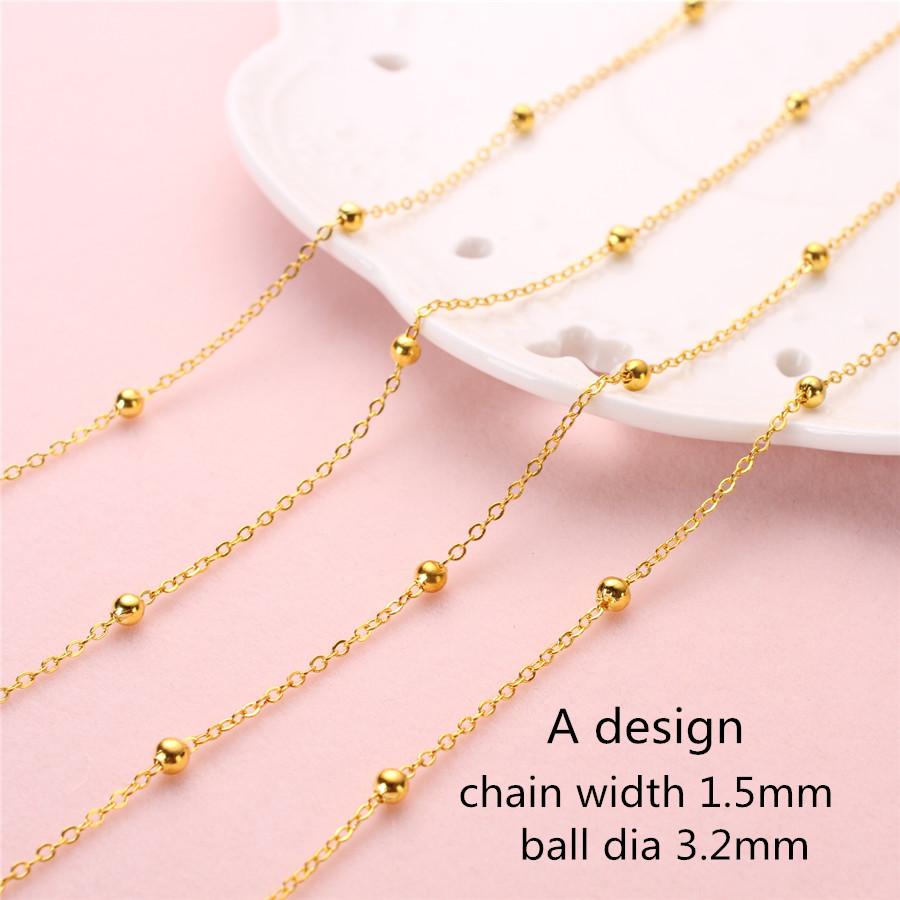Gold Chains Diy Tassels Clothes Handicraft Make Brass Flat Oval 0 Design Cross Small Thin Bracelets Jewelry Components 1.5mm 10m In Many Styles Beads & Jewelry Making