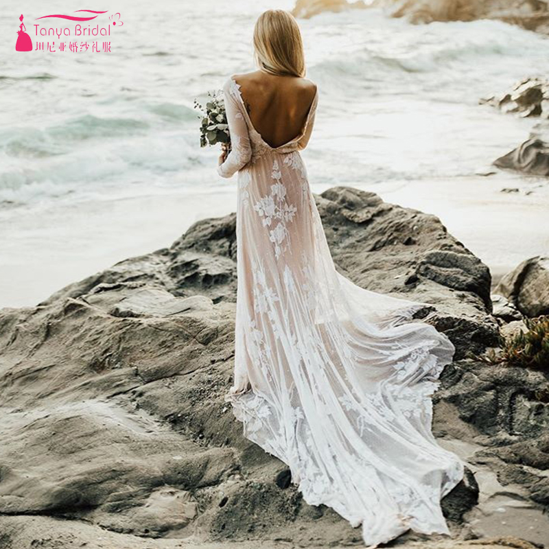 f0fe27ce0b Bohemian Wedding Dress Fairy Lace GYPSY Beach Summer robe de soiree ...