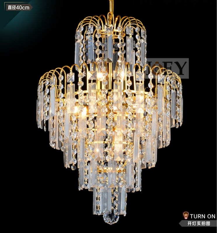 Traditional crystal chandeliers lighting Gold Palace light Luxury Hotel lamp for Restaurant Diameter40cm Guaranteed100% 9052 crystal palace stoke city
