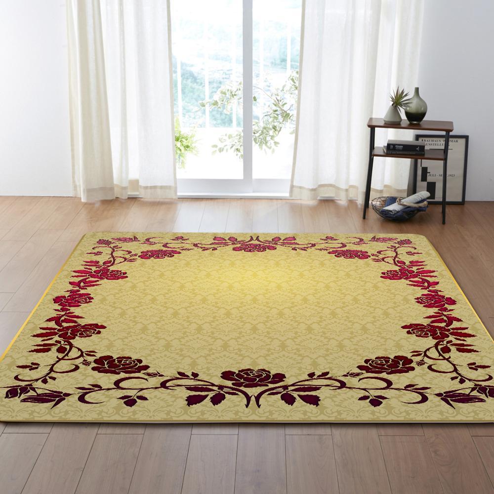Style européen fleur motif Floormat tapis zone tapis couverture enfant jouer jeu tapis pour chambre salon décoration de la maison cadeaux