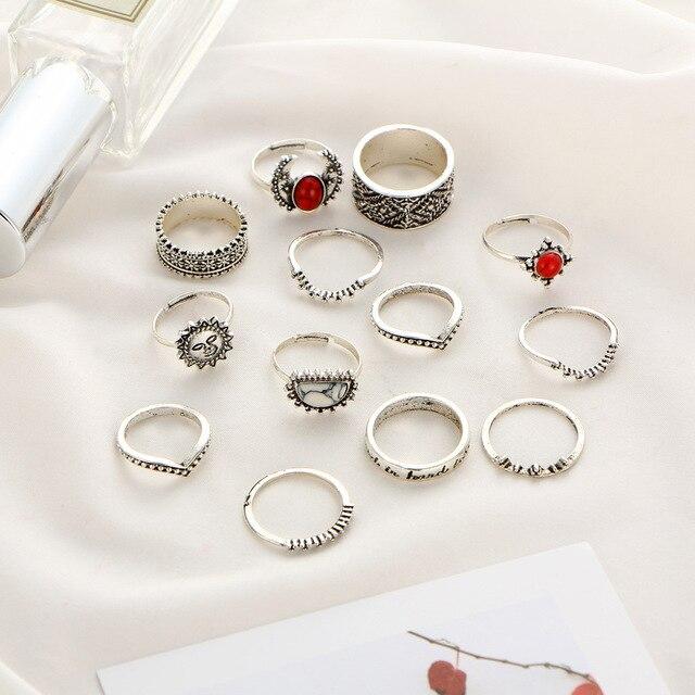Фото набор украшений из 14 предметов антиквариат серебро луна солнце