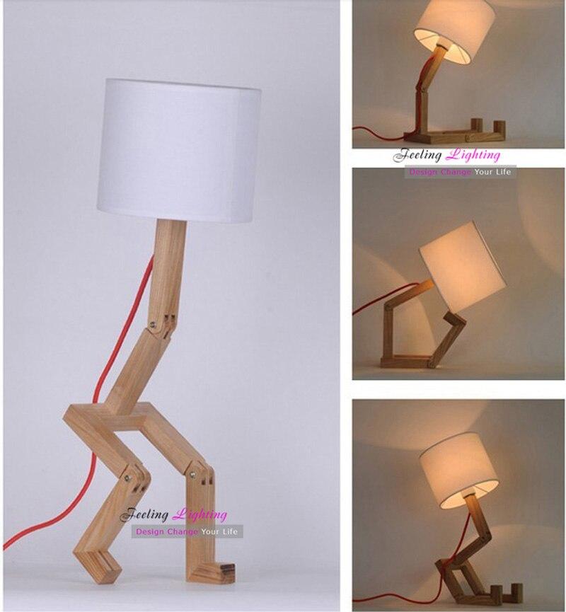 Original Diseño De DIY Mesa Blanca Lámpara de MaderaTela CsrxQhtd