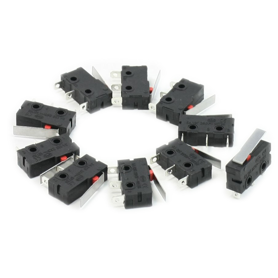 Promotion! 10 Pcs AC SPDT 1NO 1NC Short Straight Hinge Lever Mini Micro Switch 100pcs v 152 1c25 straight hinge lever ac dc micro switch