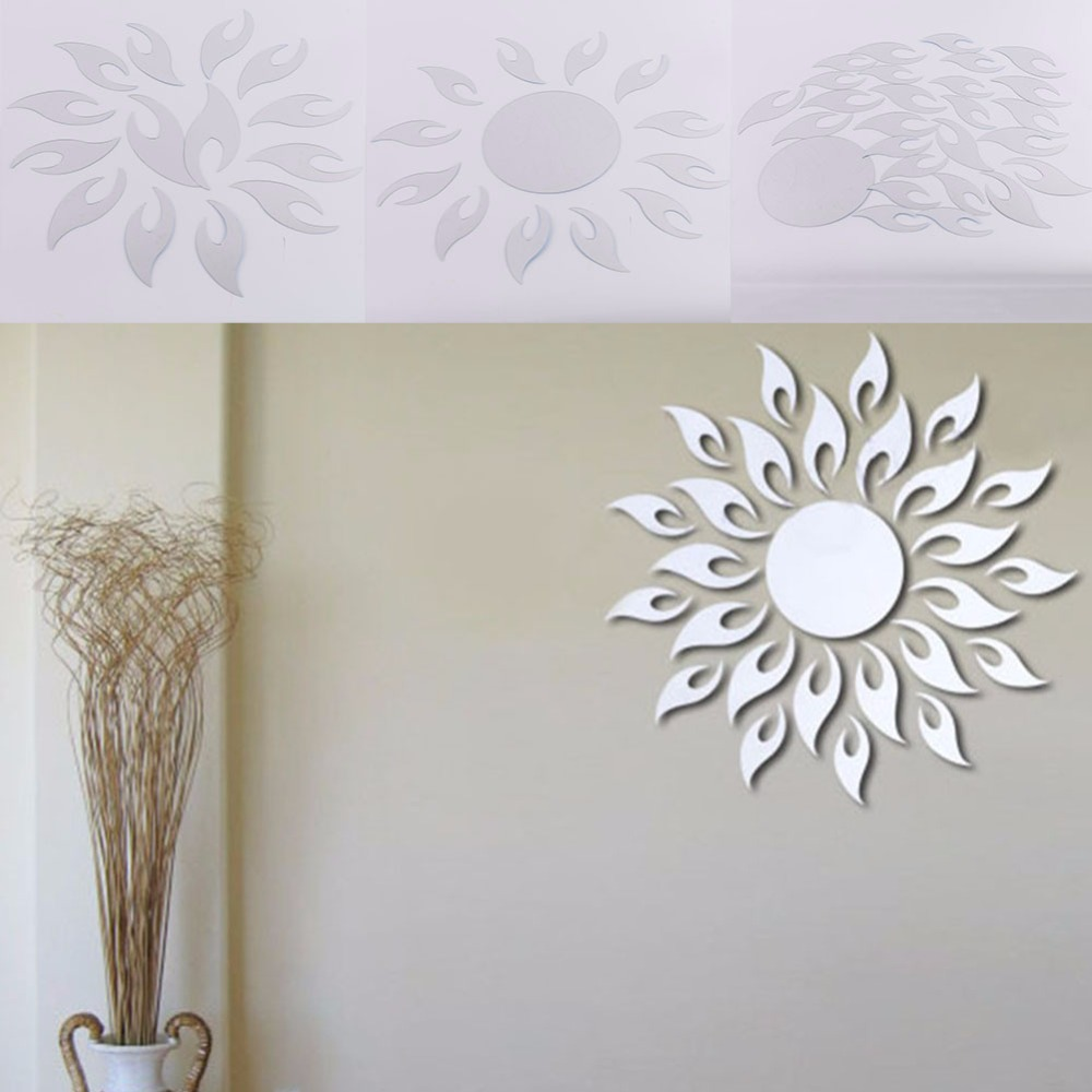 Sun Shape Acrylic Mirror Wall Posters Wall Stickers Home